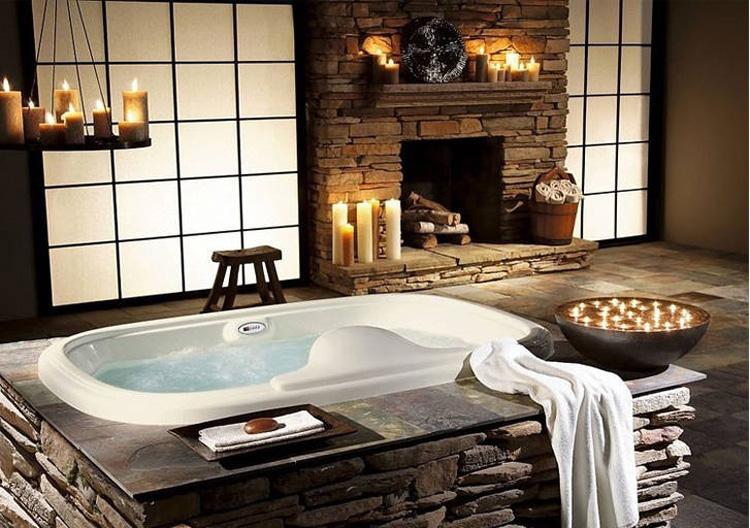 salon kąpielowy i świece dodają klimatu